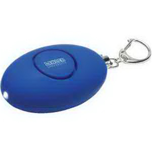 Soft-Touch LED Light & Alarm Key Chain