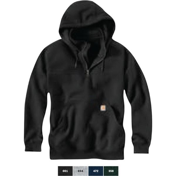 Paxton Heavyweight Hooded Zip Mock Sweatshirt