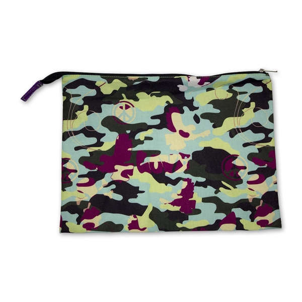 "Zippered Cotton Bag 10.75"" x 8.25"""