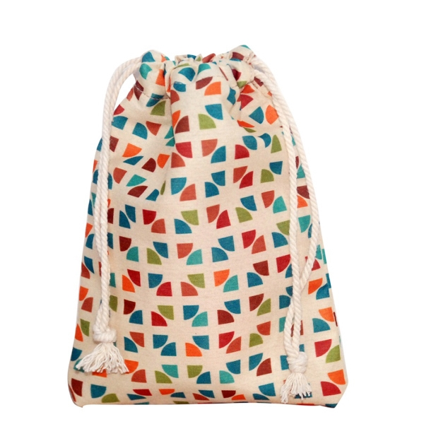 "Drawstring Cotton Bag 4.75"" x 6.75"""