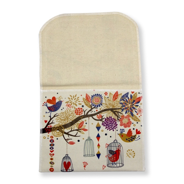 "Cotton Bag with Flap 9.5"" x 7.5"""