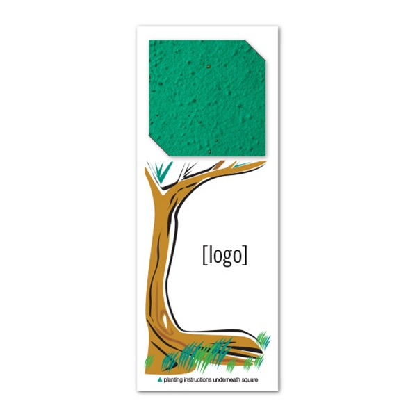 Seed Paper Square Bookmark Easy Way Stock Designs