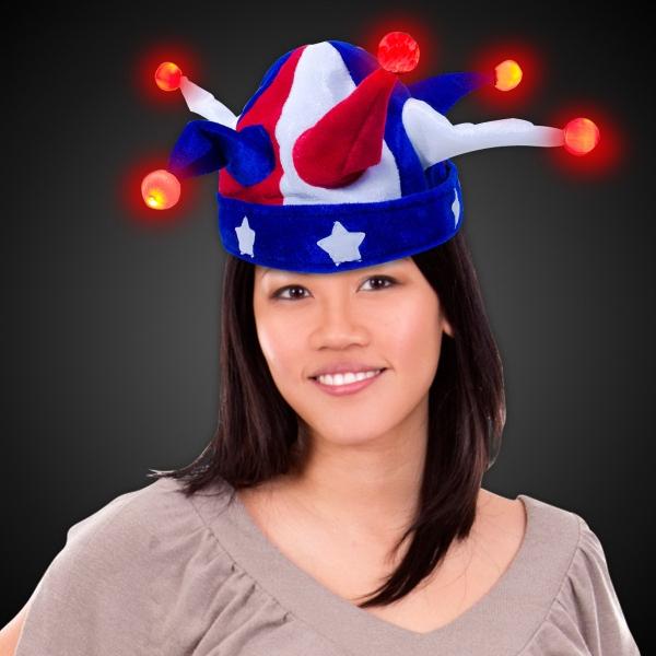 USA Jester LED Light Up Hat