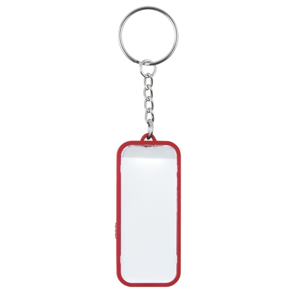 LED Light Up Faceplate Key Chain