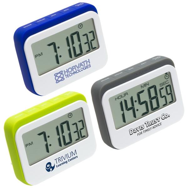 Soft Touch Widescreen Kitchen Timer/Clock