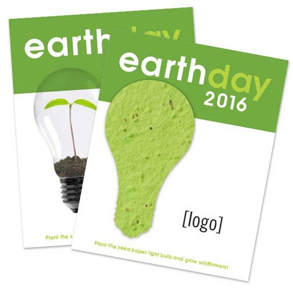 Earth Day Seed Paper Shape Postcard: 30 Stock Design