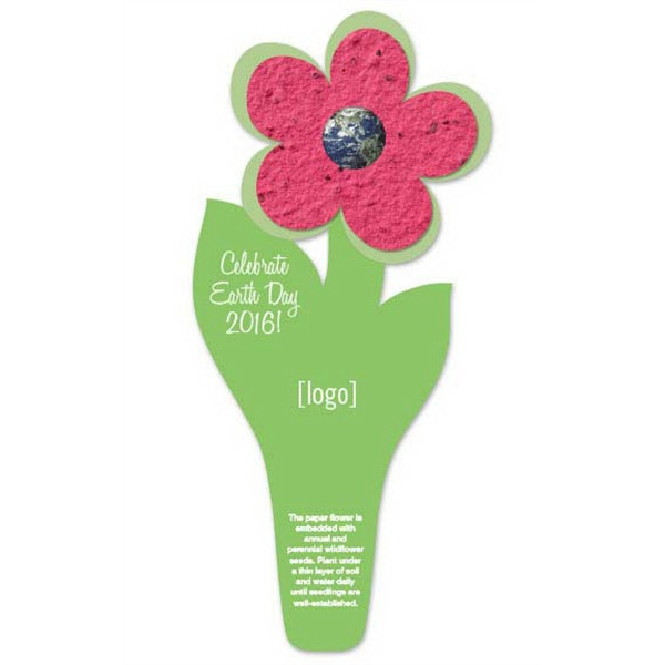 Earth Day Seed Paper Flower Bookmark: 15 Stock Designs
