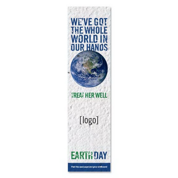 Earth Day Small Seed Paper Bookmark: 15 Stock Designs