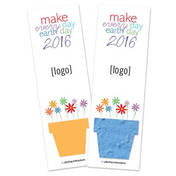 Earth Day Small Seed Paper Bookmark: 11 stock design