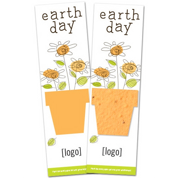 Earth Day Seed Paper Shape Bookmark