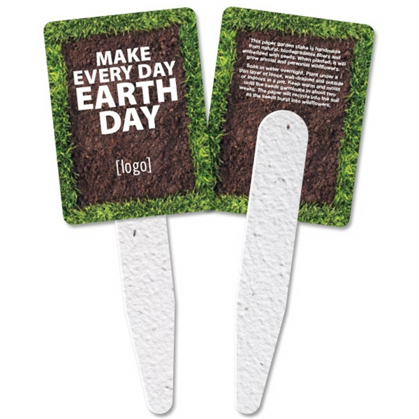 Earth Day Garden Grow Stakes: 15 Stock Designs Available