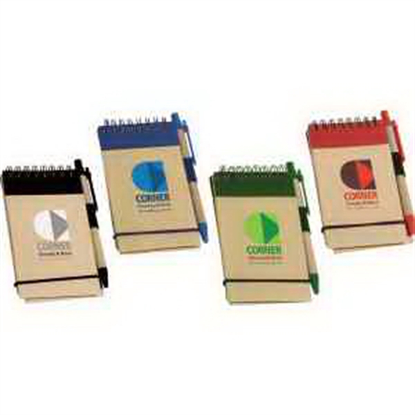 Think Green Recycled Notepad & Pen