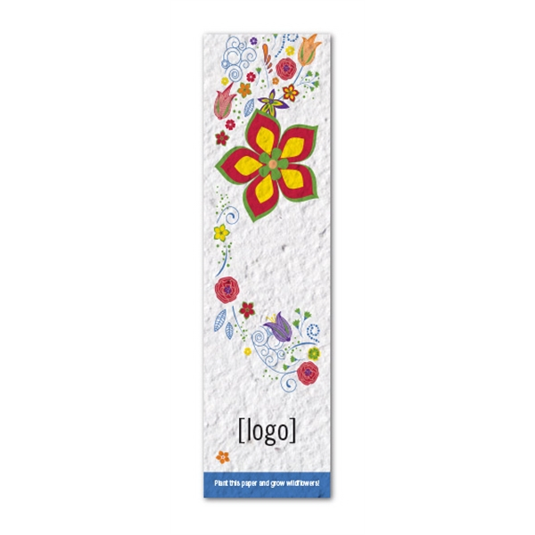 Small Seed Paper Bookmark: Easy Way Stock Designs