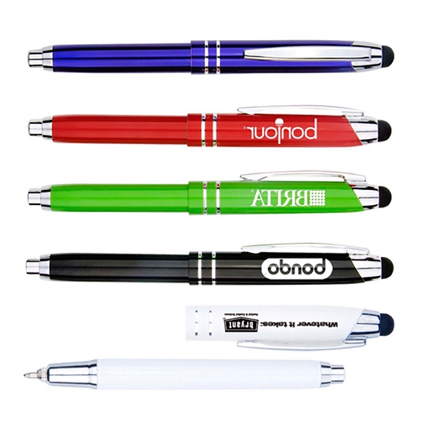 High quality Metal Pen with writing light and stylus