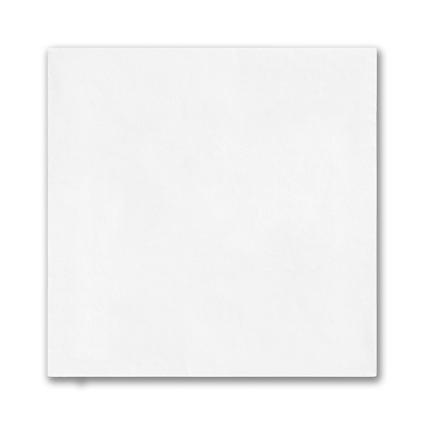 White Beverage Napkin with Uncoined Edge