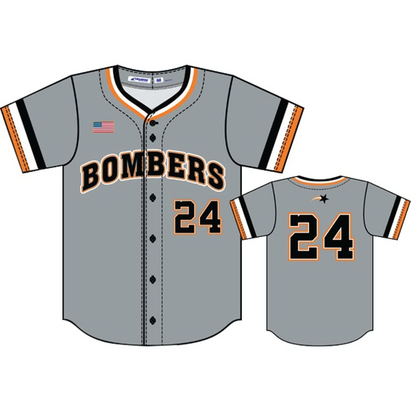 Adult Juice Full Button Baseball Jersey