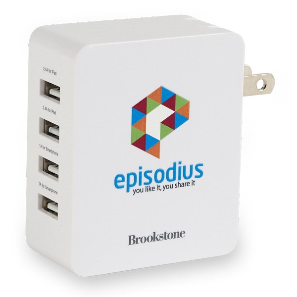 Brookstone(R) 4-Port USB Wall Charger II