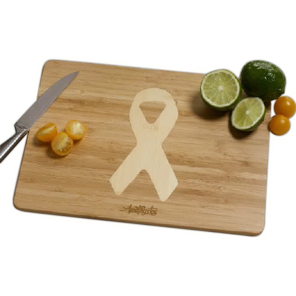 Awareness Ribbon Bamboo Cutting Board