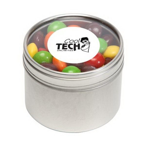 Skittles in Small Round Window Tin - Skittles in Small Round Window Tin