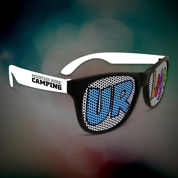 Custom White Retro Billboard Sunglasses