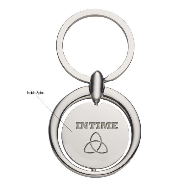 Circular Metal Key Tag
