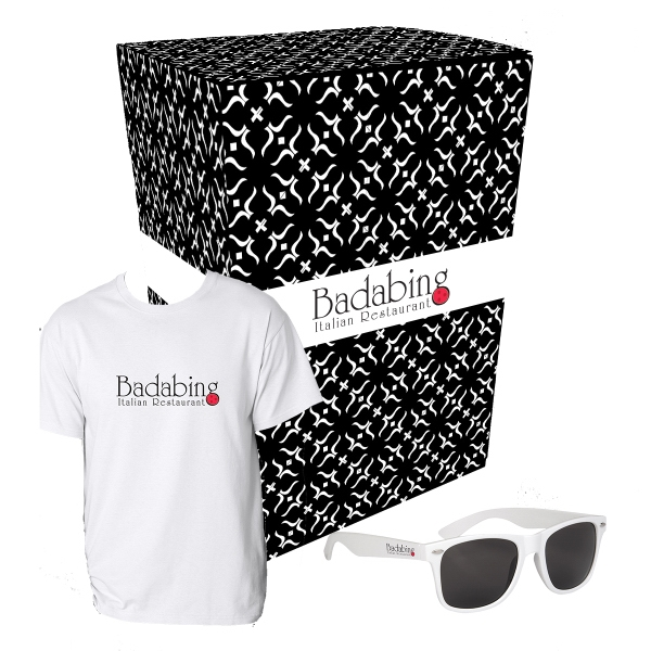Gildan (R) T-Shirt And Sunglasses Combo Set With Custom Box