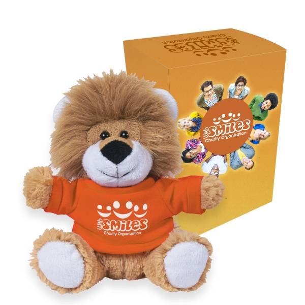 "6"" Lovable Lion With Custom Box"