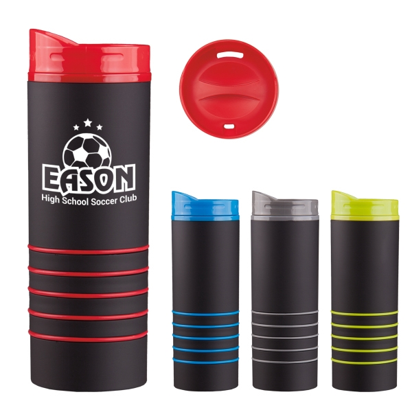 16 oz. Rubber-Coated Tumbler