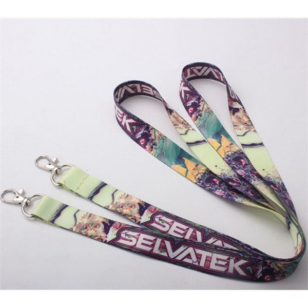 Dye-Sublimation Process Lanyards with Bulldog Hook