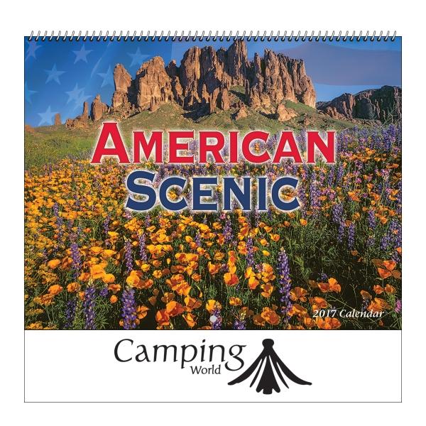 2017 American Scenic Wall Calendar - Spiral