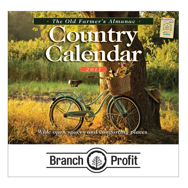 The Old Farmer's Almanac Country Wall Calendar - Stapled