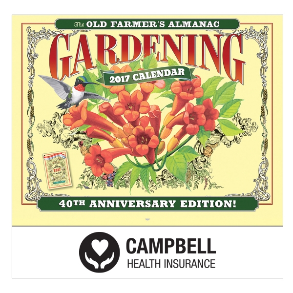 The Old Farmer's Almanac Gardening Wall Calendar - Stapled