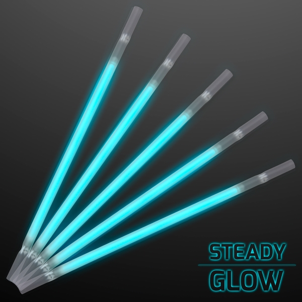 Turquoise Glow Straws for Party Drinks