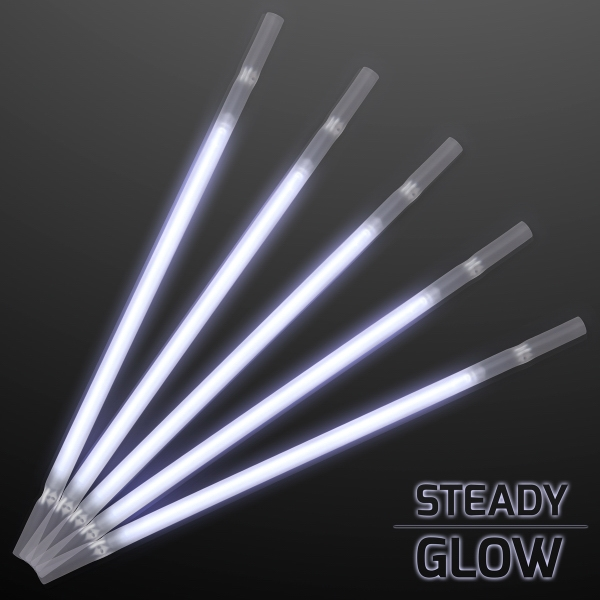 White Glowing Straws for Party Drinks