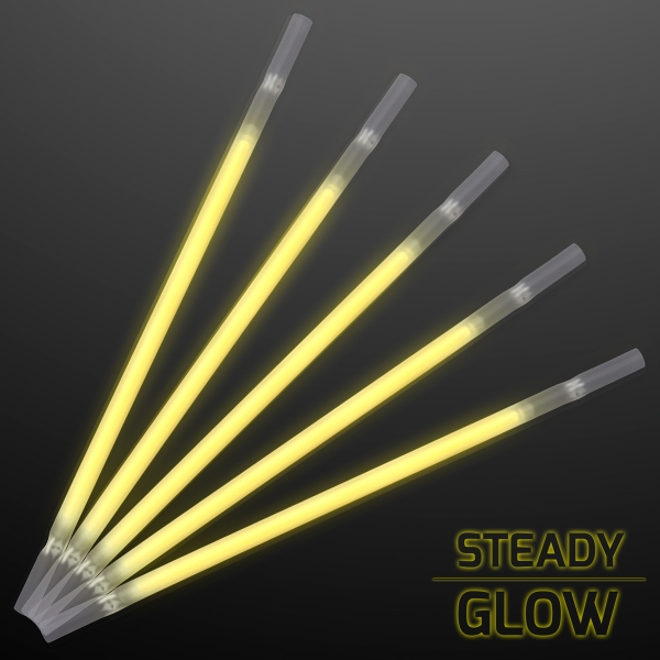 Yellow Glowing Straws for Party Drinks