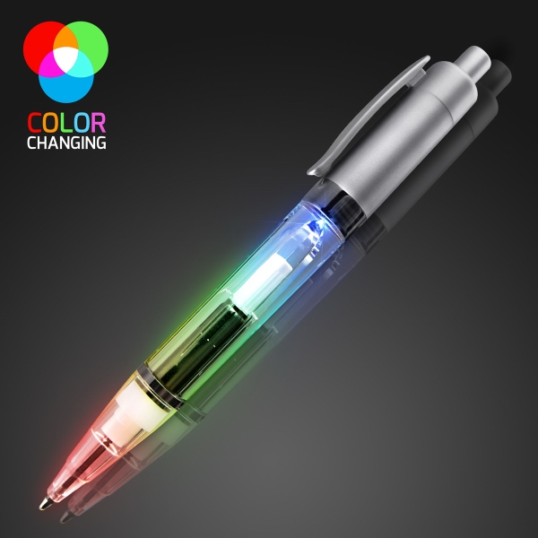 Plastic colored LED pens with colored barrel
