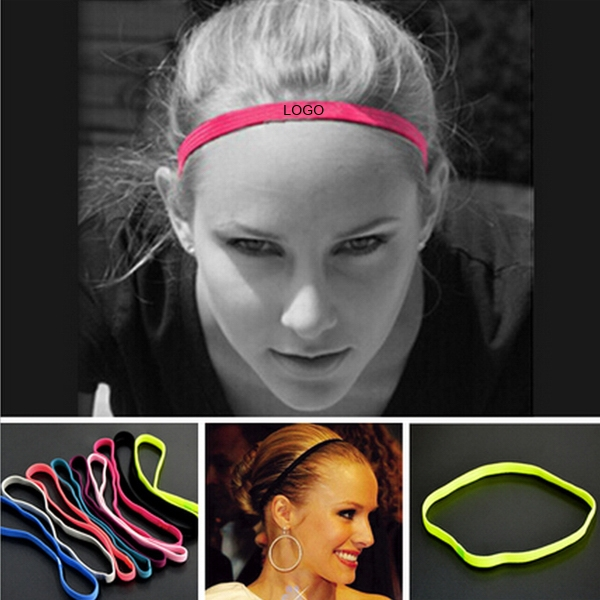 Sport Anti-slip Elastic Rubber Sweatband