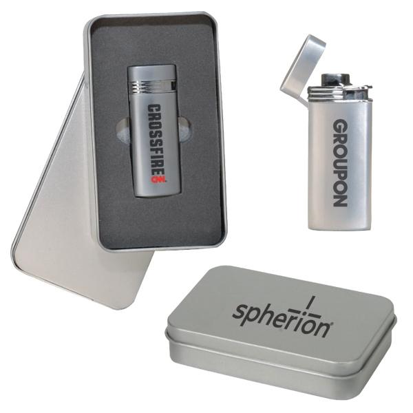 Deluxe Metal Lighter Gift Set
