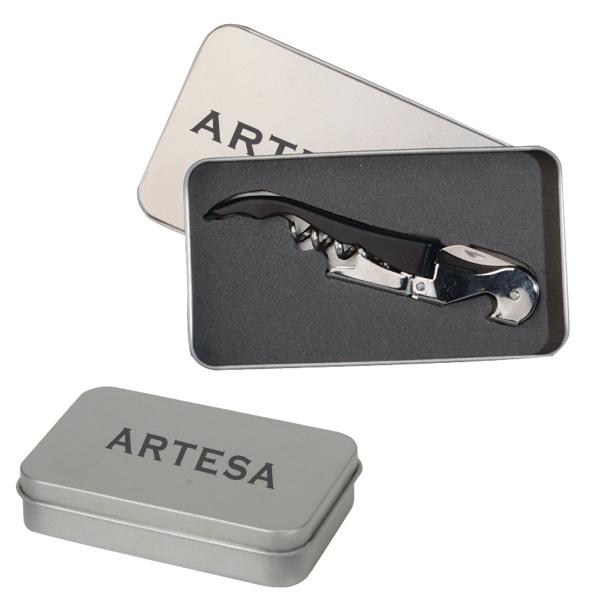 Metal Tin Corkscrew Bottle Opener Gift Box