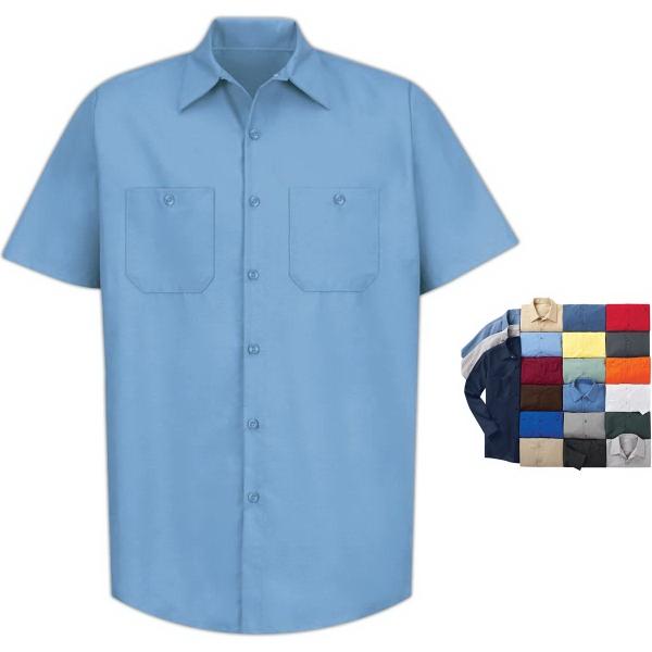 Short Sleeve Industrial Solid Work Shirt