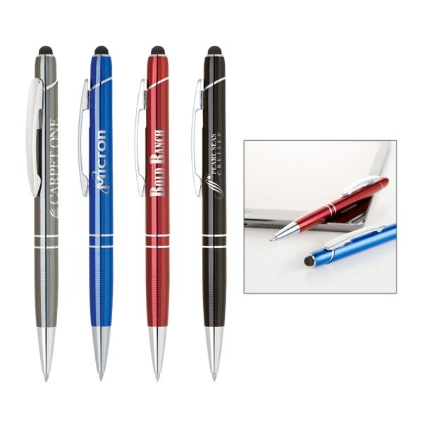 Anodize aluminum ballpoint pen with capacitive stylus