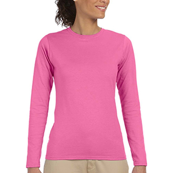 Gildan (R) SoftStyle (TM) 4.5 oz. Junior Fit Long Sleeve Tee