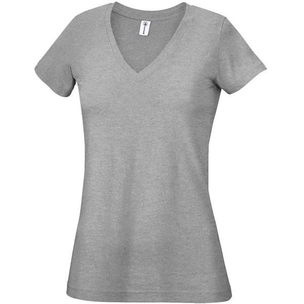 Promotional Junior 4.3 oz. 30/1's V-Neck Tee