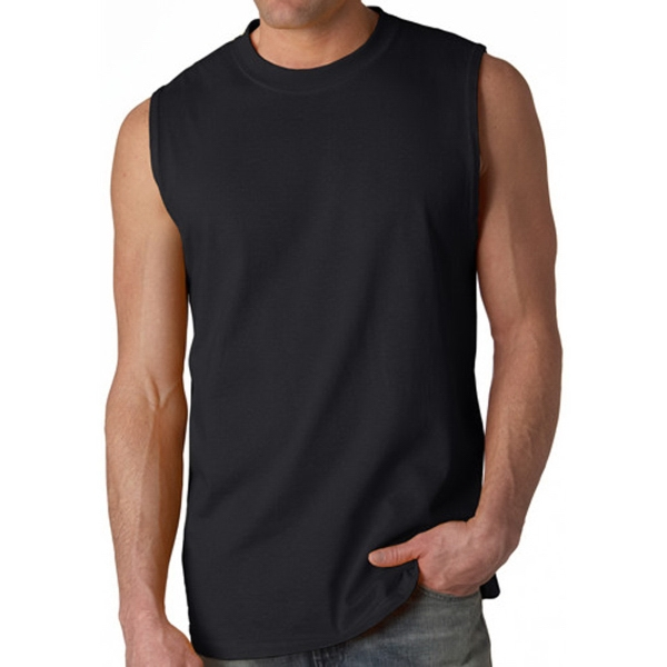 6.1 oz. 100% Pre-Shrunk Jersey Knit Cotton Sleeveless Tee