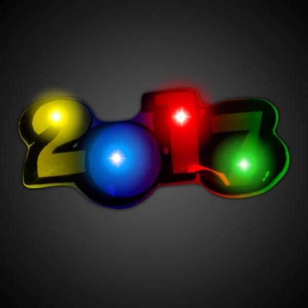 LED 2017 Blinkie Pin
