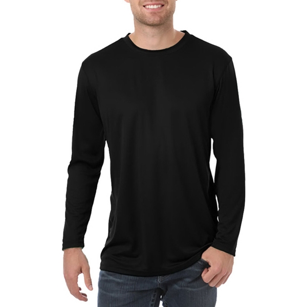 Custom Long Sleeve Adult Solid Wicking Tee