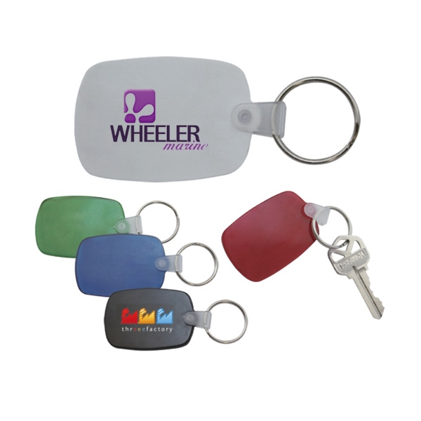 Circle Cape Rectangular PVC Key Tag