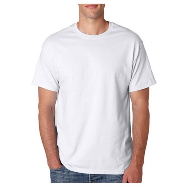 Hanes Full Color White Heavyweight Tee