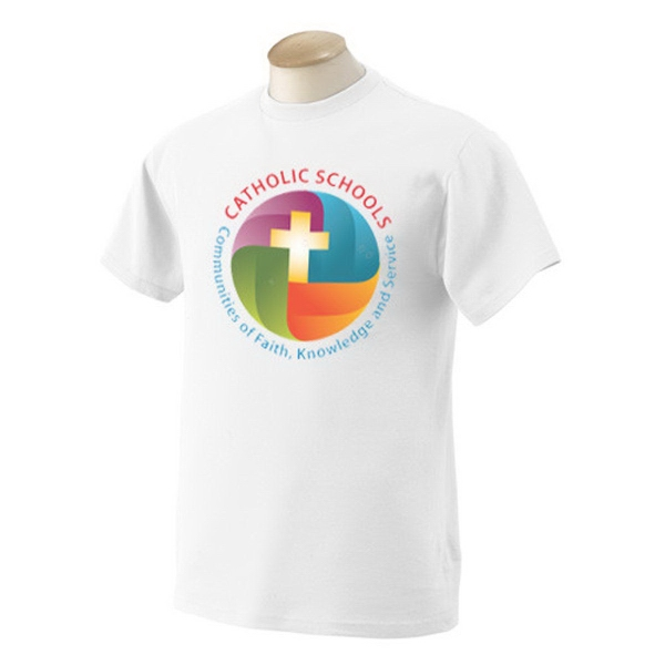 Fruit of the Loom White Full Color T-Shirt