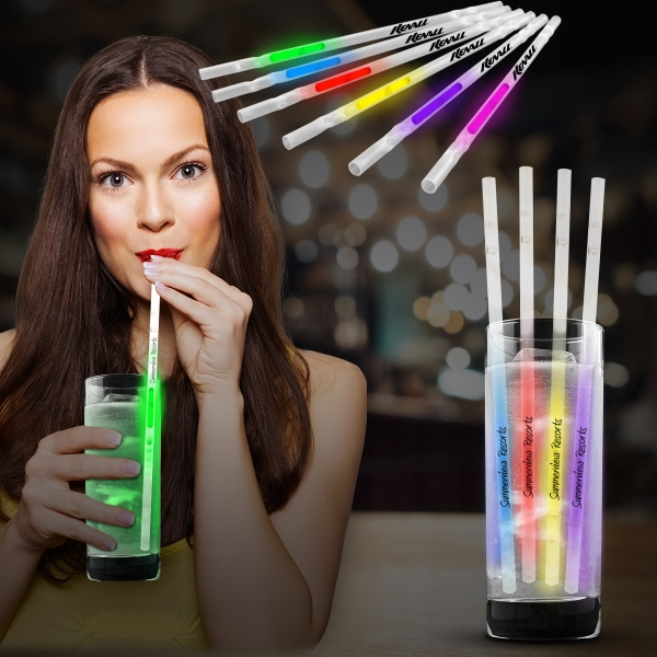 "9"" Glow Light Up Motion Straw"